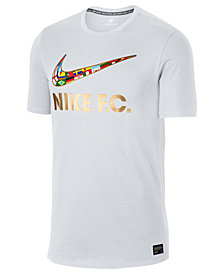 Nike Men's Metallic F.C. Logo Supporters Pride Soccer T-Shirt