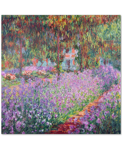 Claude Monet 'The Artist's Garden at Giverny' Canvas Wall Art