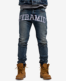 Black Pyramid Men's Checkered Logo Jeans