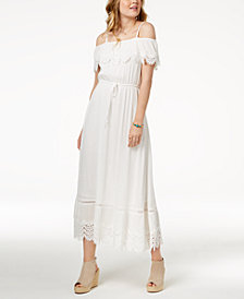 American Rag Juniors' Ruffled Maxi Dress, Created for Macy's