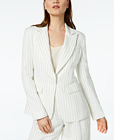 Rachel Zoe Striped One-Button Blazer