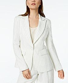 Rachel Zoe Striped One-Button Blazer