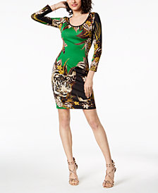 Just Cavalli Jungle Print Sheath Dress