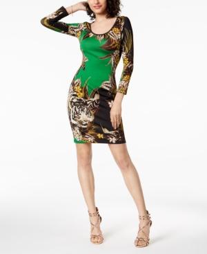 Just Cavalli JUNGLE PRINT SHEATH DRESS