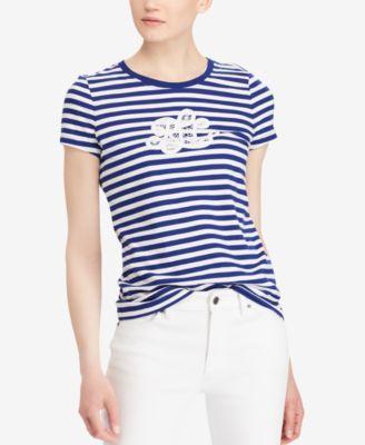 Embroidered Monogram Cotton T-Shirt