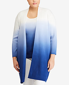 Lauren Ralph Lauren Plus Size Straight Fit Cardigan