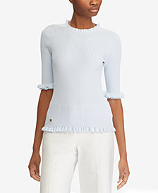 Lauren Ralph Lauren Petite Ruffled Top
