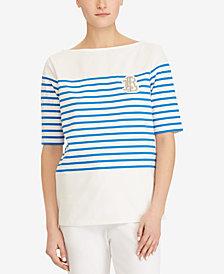 Lauren Ralph Lauren Striped Cotton T-Shirt