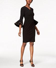 Calvin Klein Beaded Bell-Sleeve Dress