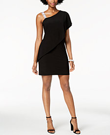 MSK Draped One-Shoulder Dress