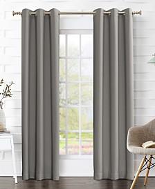 """Sun Zero Preston 80"""" x 84"""" Blackout Grommet Curtain Panel Pair"""