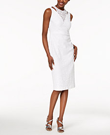 Calvin Klein Layered Lace Sheath Dress
