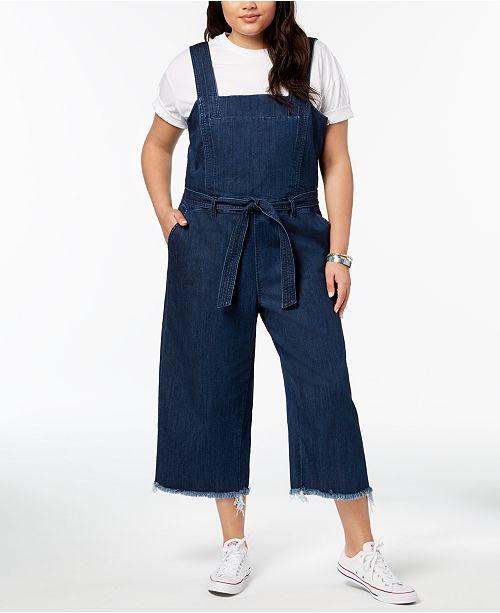 Rachel Rachel Roy Trendy Plus Size Cotton Denim Jumpsuit Pants
