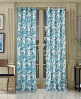 "Pristina 50"" x 63"" Floral-Paisley Grommet Curtain Panel"