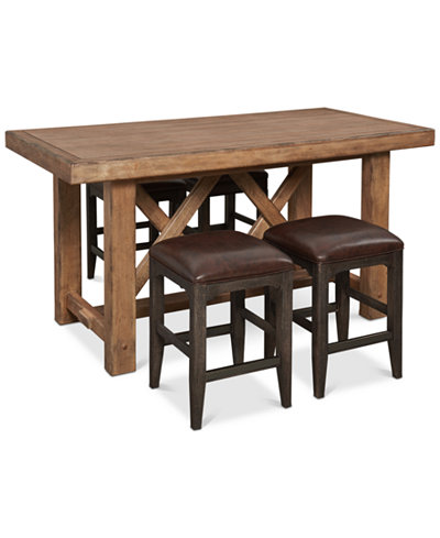 Brewing Collection, 5-Pc. Furniture Set (Gathering Table & 4 Lager Gathering Stools)