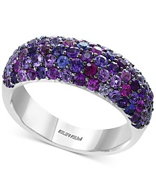 Splash by EFFY® Purple Sapphire Pavé Ring (2-3/8 ct. t.w.) in Sterling Silver
