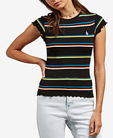 Volcom Juniors' Striped Baby T-Shirt