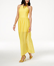 The Edit By Seventeen Juniors' Crocheted Maxi Dress, Created for Macy's