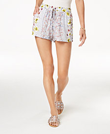 Be Bop Juniors' Soft Floral-Print Shorts
