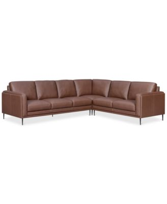 Furniture Maida 3 Pc. Leather Sectional With Sofa U0026 Loveseat   Furniture    Macyu0027s