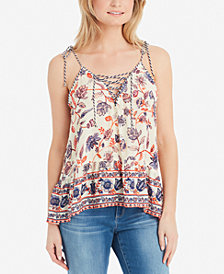 Jessica Simpson Juniors' Ceri Embroidered Peplum Top