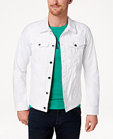 G-Star RAW Men's D-Staq Slim Fit White Denim Jacket, Created for Macy's