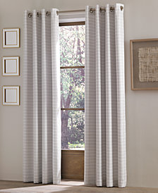 "J Queen New York Essex 50"" x 95"" Checker Stripe Grommet Curtain Panel"