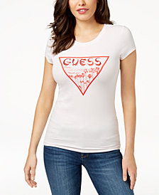 GUESS Glitter Signature Graphic T-Shirt