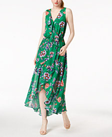 Bar III Floral-Print Ruffled Maxi Dress, Created for Macy's