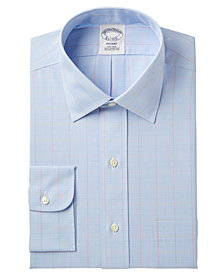 Brooks Brothers Men's Milano Slim-Fit Non-Iron Broadcloth Check Dress Shirt