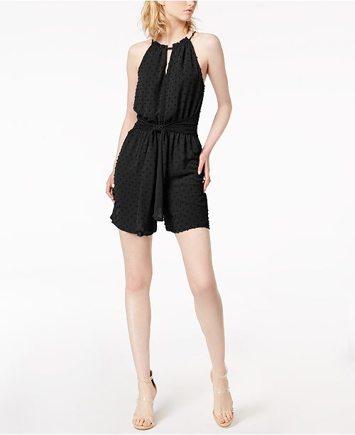 Created Swiss Macy's Bar Halter III Dot for Romper Black xOOZU