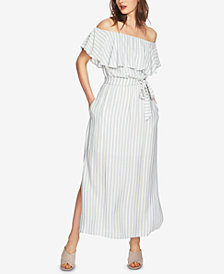 1.STATE Striped Ruffled Dress