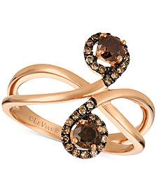 Le Vian Chocolatier® Diamond Swirl Ring (5/8 ct. t.w.) in 14k Gold