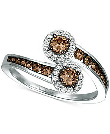 Le Vian Chocolatier® Diamond Bypass Ring (3/4 ct. t.w.) in 14k White Gold