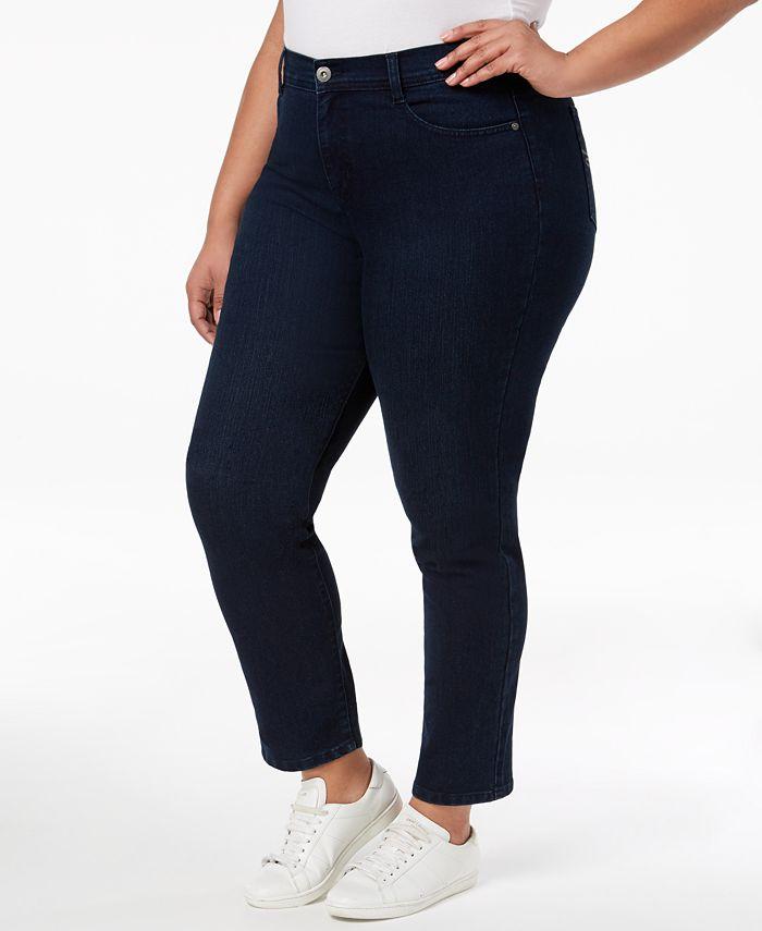 Style & Co - Plus Size Jeans, Tummy Control Slim-Leg