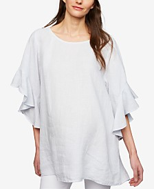 A Pea In The Pod Maternity Ruffled Top