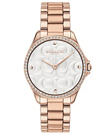 Women's Modern Sport Rose Gold-Tone Stainless Steel Bracelet Watch 31mm