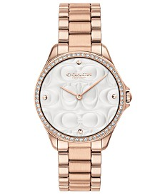 COACH Women's Modern Sport Rose Gold-Tone Stainless Steel Bracelet Watch 31mm