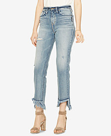 Silver Jeans Co. Vintage Frayed Step-Hem Jeans