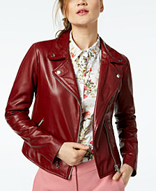 Marella Cammeo Leather Moto Jacket