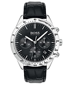 BOSS Hugo Boss Men's Chronograph Oxygen Black Leather Strap Watch 42mm