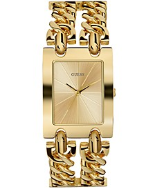 Women's Gold-Tone Stainless Steel Chain Bracelet Watch 36mm