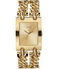 Women's Gold-Tone Stainless Steel Chain Bracelet Watch 36mm