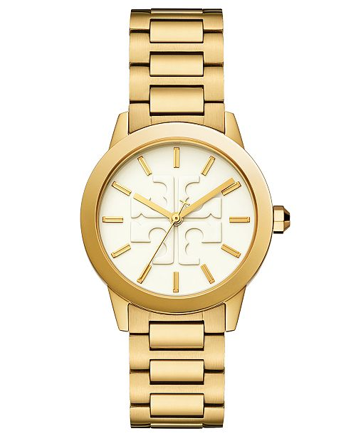Tory Burch Women's Gigi Gold-Tone Stainless Steel Bracelet Watch 36mm