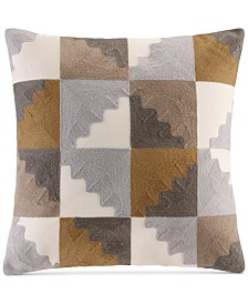 """INK+IVY Neve 20"""" Square Geometric Embroidered Decorative Pillow"""