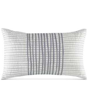 InkIvy Bishop 12 x 20 Embroidered Stripe Oblong Decorative Pillow
