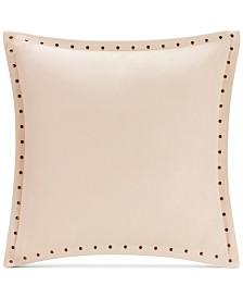 "Madison Park Alban Faux-Suede 20"" Square Studded Decorative Pillow"