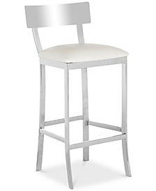 Sidonia Faux Leather Bar Stool, Quick Ship