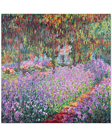 "Claude Monet 'The Artist's Garden at Giverny' 35"" x 35"" Canvas Wall Art"