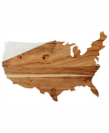 CLOSEOUT! Thirstystone Marble & Wood Map Board
